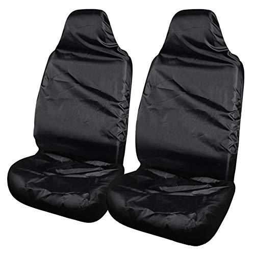 Vientiane Universal Auto Schonbezug Sitz, Sitzabdeckung Vordere sitzbezug Schutz, Wasserdicht Staubdicht Hochwertige Sitzauflage für Ihren (Schwarz)