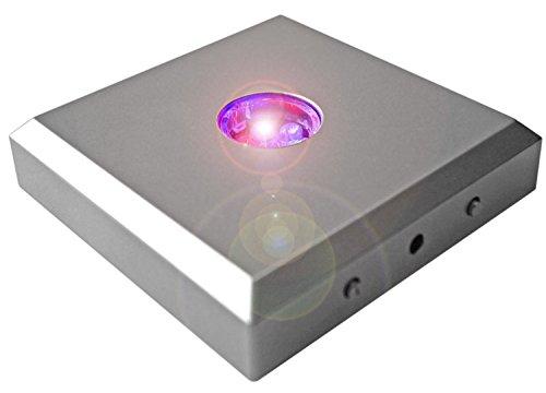 Kaltner Präsente LED Untersetzer Farbverlauf Farbwechsler Leuchtsockel mit Color-Stop Funktion für Stimmungslichter Silber (5 LEDs)
