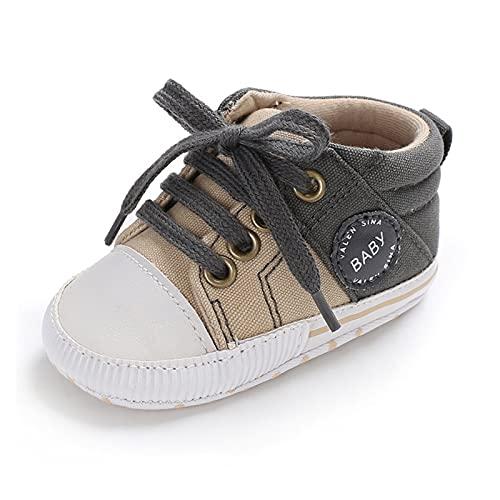 GUOQUN-SHOP Plataforma Unisex bebé Baby Boy Cotton Classic Lienzo Zapatos Niños Spring Straps Stitching Croib Zapatos Recién Nacidos Primeros Caminantes (Color : Green, Shoe Size : 13cm (5.12 in))