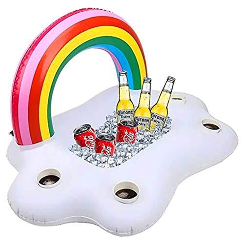 Alta capacidad PVC Inflable Rainbow Ice Bar Agua Adulta Par Par De Cerveza Zhuo Copa De Cisne Cupa De La Piña Bandeja De Hielo Para el bar de la casa, la cerveza fría, el champán y el vino.