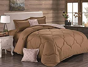 Comforter set 6 Pieces and Double Sided by Hours, King Size, SOPHIA-010