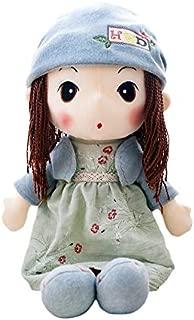 HWD 16'' Plush Girl Toys Doll , Soft Stuffed Figure Dolls , Clothes Detachable (Blue)