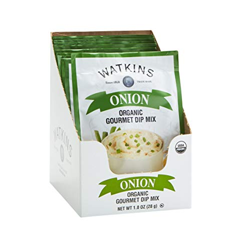 Watkins Organic Gourmet Dip Mix, Onion, 1.0 oz. Packets, 12-Pack
