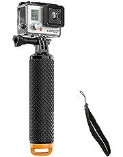 E-More Waterdichte GoPro Drijvende Hand Statief Mount & Drijvende Handvat Grip met Duimschroef en Verstelbare Polsband voor GoPro Hero 2/3/3 +/4 Sport Actie Camera Mount Accessoires (geel)