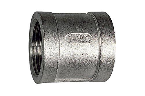 Manchon rond G 1/8, pression de travail max. 20 bar, acier inoxydable 1.4408.