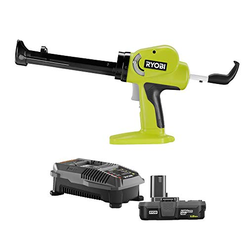RYOBI 18-Volt ONE+ Power Caulk and Adhesive Gun P310 Kit with 1.5 Ah Lithium-Ion Compact Battery and 18-Volt Charger