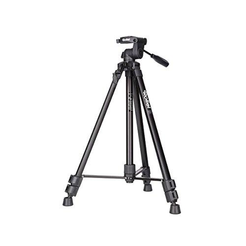 Rollei Compact Traveler Star S2 ehemals DIGI 9300 I Videostativ aus Aluminium I bis zu 3 kg Traglast I inkl. Stativkopf und Stativtasche I Schwarz