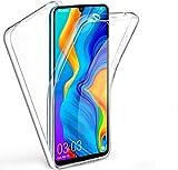 CHIMUCO Funda para Huawei P30 Pro, 360 Grados Carcasa Transparente Ultrafino Silicona TPU Frente y PC Back Case Protección Integral Funda de Doble Protección - Transparente