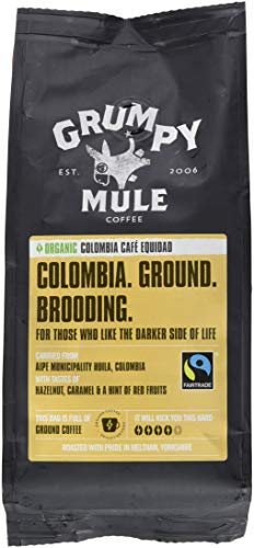 Grumpy Mule Organic Colombia Caf? Equidad Ground Coffee 227 g