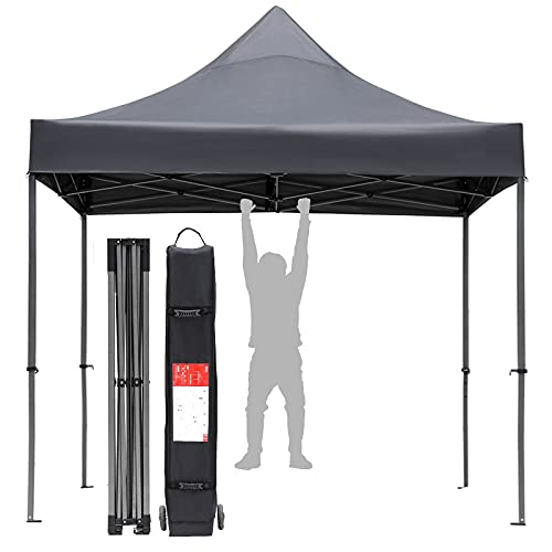 Pop Up Canopy Tent 10x10, Heavy Duty Commercial Canopy Tent with Strong Truss Structure, Anti-UV Sun Instant Shelter for Flea Market, Parties, Garden, Backyard