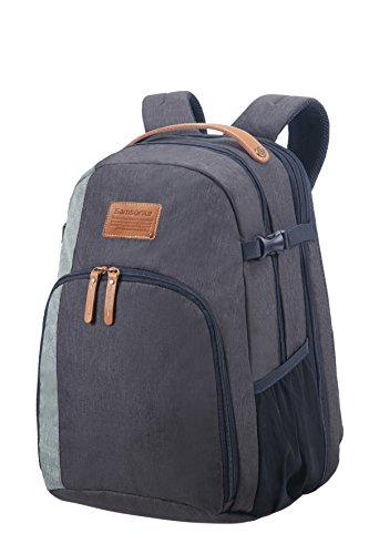 SAMSONITE Rewind Natural - Laptop Backpack Large Expandable, 29/34L - 0.7 KG Rucksack, 45 cm, 29 L, River Blue