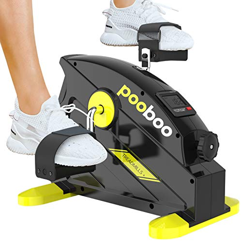 pooboo Pedal Exerciser Under Desk Bike Stationary Exercise Portable Mini Cycle Bike for...