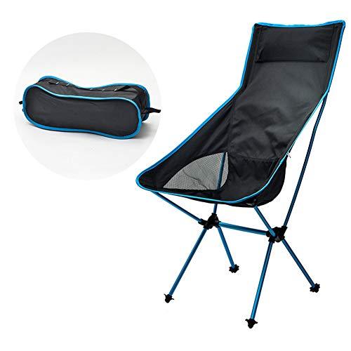 YANJ Silla Plegable Exterior,Silla Plegable Baja,jardín de Playa para Acampar al Aire Libre,portátil Ligero,reposabrazos Acolchados (Azul)