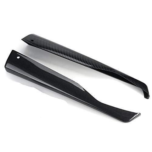 NADAENZU Difuser Splitter Spoiler, un par de protección contra Labios de Labios de Parachoques para Subaru Impreza WRX STI 2011-2014 4DR CS Style,Carbon Fiber Look