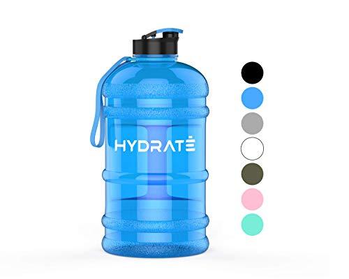 HYDRATE XL Jug 22 Litre Water Bottle BPA Free Flip Cap Ideal for Gym Colour Options Blue