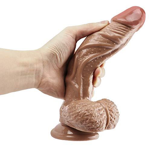 ZJMZS Tamaño Silicona 8,85 Pulgadas Dīldɔ Primera Experiencia Tratar de Hacer el Amor Buena elección con Impermeable Potente succión Juguetes (Color : Flesh)