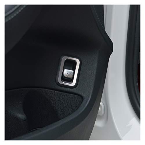 loulou Puerta de Coche Botón Botón Marco Cubierta de decoración Ajuste para Mercedes Benz C Class W205 GLC X253 2015-2018 Aleación de Aluminio