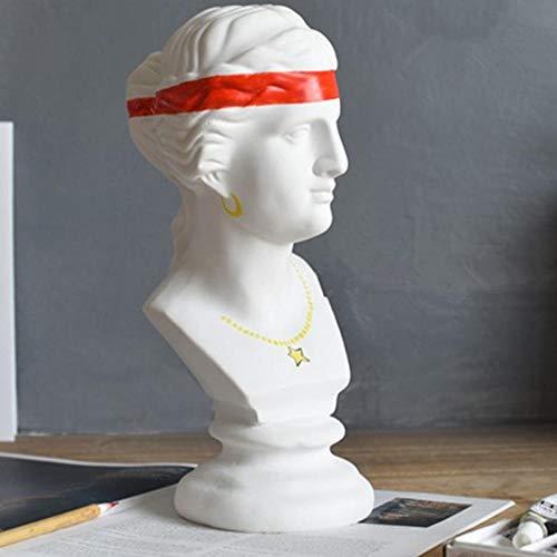 skulptur Statuen Hand-gemalt Setzen Auf Halskette Göttin Venus Harz Kopf Porträts Skulptur Kreative Wohnzimmer Eingangsbereich Ornamente