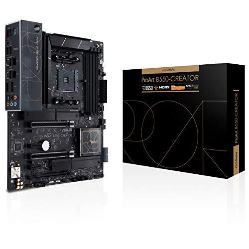 ASUS ProArt B550-CREATOR - Placa Base ATX AMD B550 Ryzen AM4 (PCIe 4.0, Thunderbolt 4 de Tipo C, Ethernet Intel de 2,5 GB, Dos M.2, USB 3.2 Gen. 2 y Buena gestión de Seguridad)