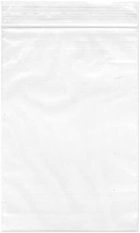 Poly Bag 3x5 4 mil ReclosableClear Ziplock Plastic Resealable cs//1000 123034