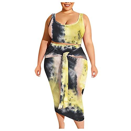 Mujer Sexy Bodycon Tank Wrap Anudado a la Cadera Vestido Color sólido/Tie-Dye/Gradiente Estampado Sin Mangas Básico Midi Fiesta Club Vestidos