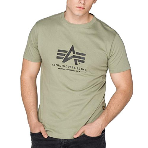 Alpha Herren T-Shirt Grün olivgrün Small