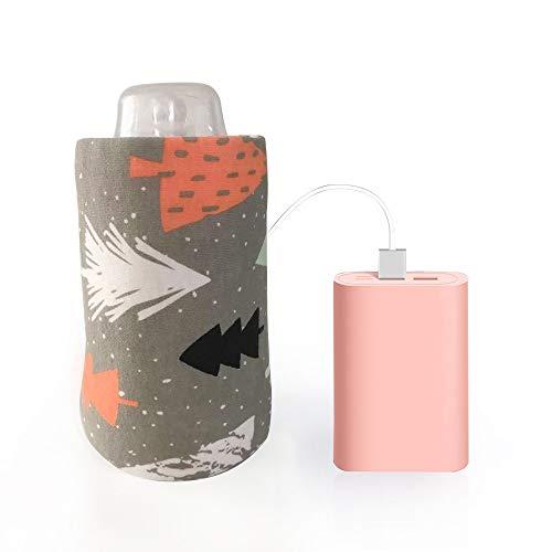 Calienta Biberones Cartón de leche más cálido, Baby USB portátil botella de alimentación del calentador de biberones leche de la historieta de viajes Calentador Calefacción aislamiento de la cubierta