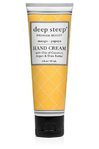 Deep Steep Crème pour les mains, 56,7 gram, mangue Papaye