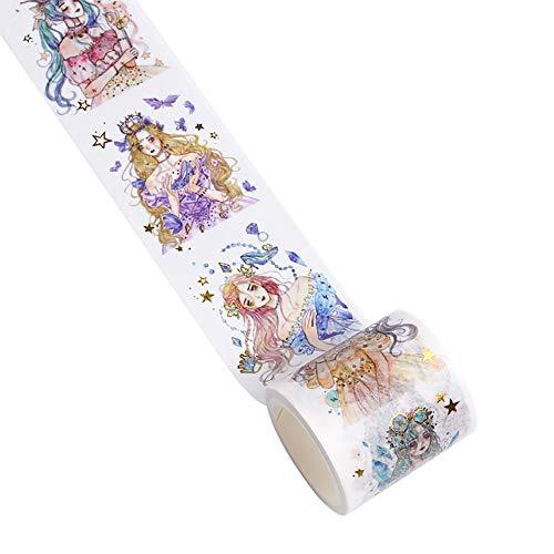 Haodou DIY Papel Cintas Cuento de Hadas Princesa Cintas Adhesivas Decorativas Cinta Adhesiva...