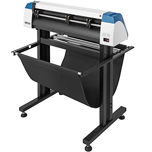 VEVOR Vinyl Cutter 28 Inch Plotter Machine AUTO-Positioning Paper Feed Vinyl Cutter Plotter Speed Adjustable Sign Cutting with Floor Stand & Signmaster Software