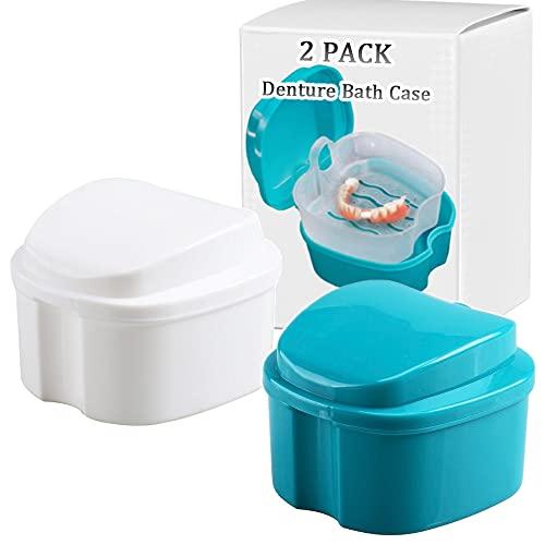 Zahnersatz-Badbox-Becher, komplette saubere Pflege für Zahnprothesen, klare Zahnspangen, Mundschutz, Nachtschutz & Halter, Reisen