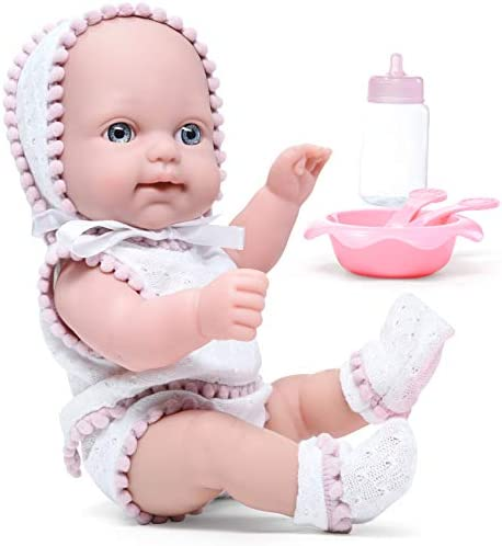 Litti Pritti Baby Dolls Set 10 Piece Realistic with Bottle Baby Dolls Feeding Set Outfit Baby product image