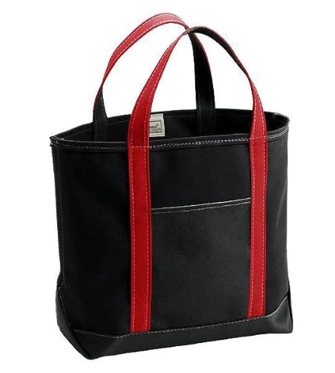 毛皮スクワイア知らせる(エルエルビーン) LL Bean 別注キャンバストートバッグ ブラック/レッド 日本未入荷Custom Tote Bag Medium Black/Red (並行輸入品)