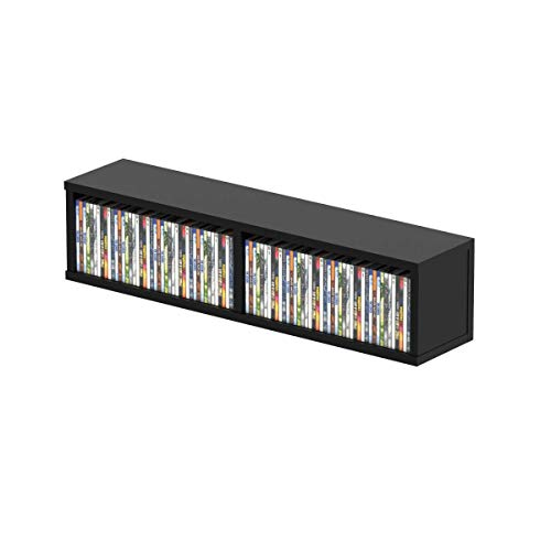 Glorious CD Box black 90 - contiene fino a 90 compact disc, facilmente impilabili con altri CD Box, con divisore (45 CD per scomparto), nero