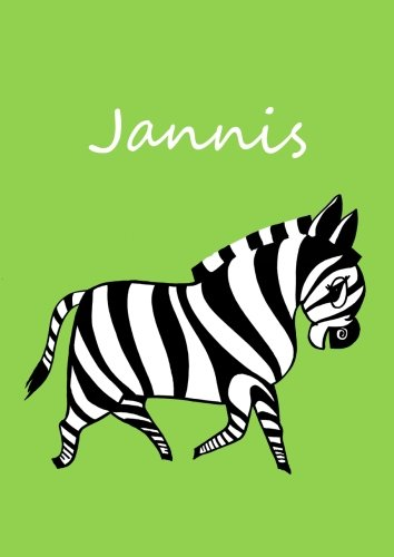 Malbuch / Notizbuch / Tagebuch - Jannis: DIN A4 - blanko - Zebra