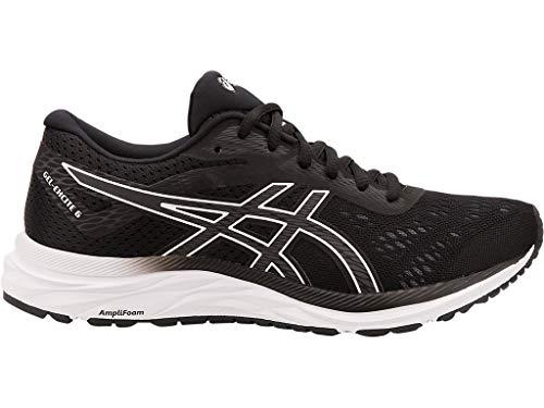 ASICS Women's Gel-Excite 6 Running Shoes, 8.5, Black/White