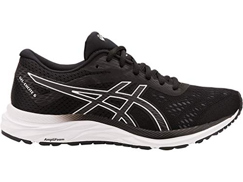 ASICS Women's Gel-Excite 6 Running Shoes, 11W, Black/White