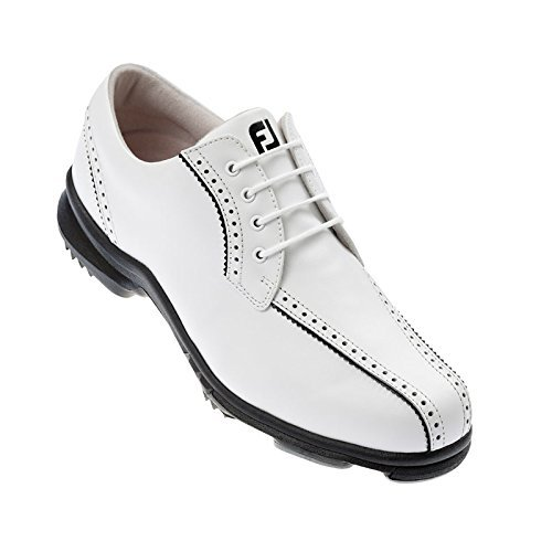 Footjoy Scarpe da Donna da Golf SoftJoy - Bianco/Nero, EU 35
