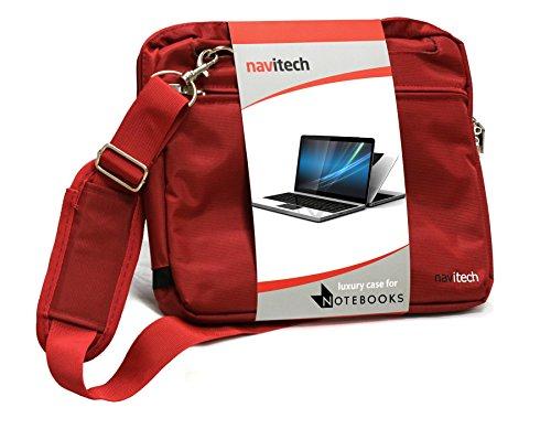 Navitech Sac de Transport Rouge Ordinateur Portable/Notebook Compatible avec HPStream 11-R004NF