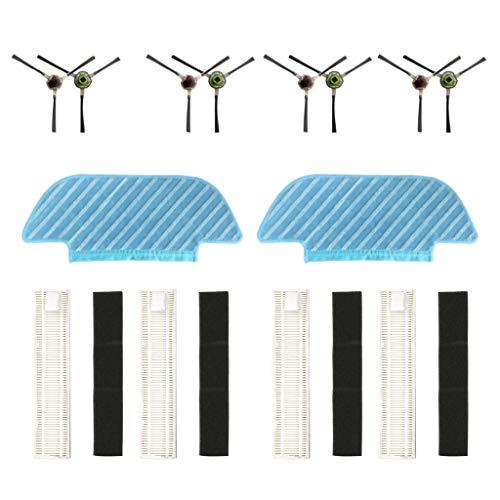 10 stücke Ecovacs OZMO Zubehör für ECOVACS DEEBOT SOZMO Slim 10 Vacuum Cleaner Kehrmaschinen Ersatzteile Borste Sidebrush Mop BorstenbürsteFilter- und Borstenbürstenersatz