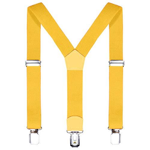 DonDon Kinder Hosenträger gelb 2 cm schmal längenverstellbar für eine Körpergröße von 80 cm bis 110 cm bzw. 1-5 Jahre