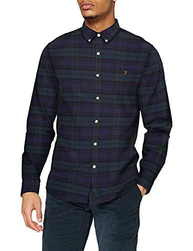 FARAH® Herren Brewer Check Hemd, Woodland Pine, XXL