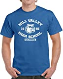 kanyeah Hill Valley High School Mens T-Shirt Back 80s Movie Future Time Machine New,Royal Blue,5XL