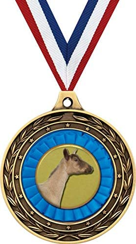 Dairy Goat New Free Shipping Gold Duo Medal Max 74% OFF 3