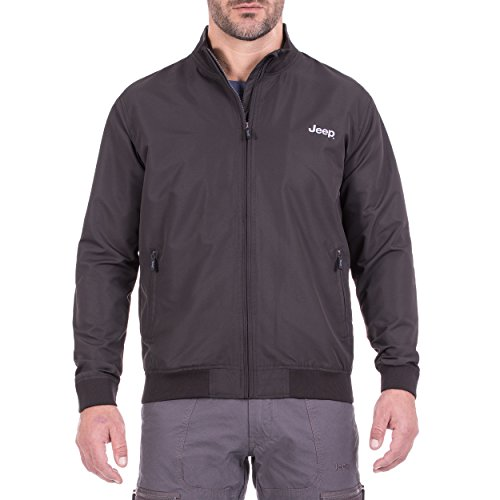 Jeep heren licht anorak in bombersnit J8S bomberjacks, Dark Grey, S