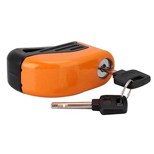 Bloqueo De Freno, Seguridad Universal, Alarma Antirrobo Duradera, Bloqueo De Freno De Disco Para Bicicleta Para Prevención De Robos, Seguridad(naranja)