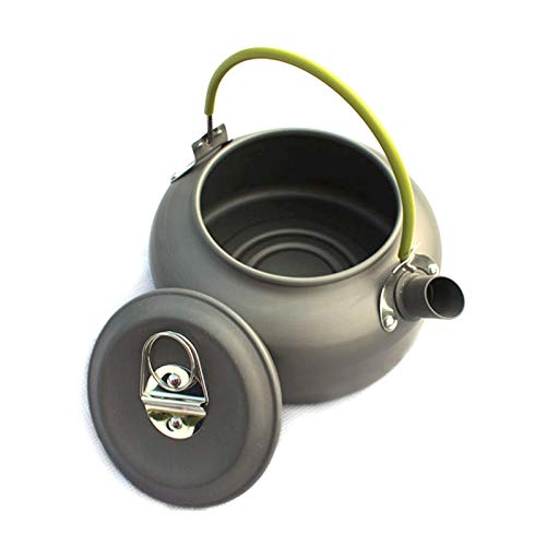 Wangl Camping Products 0.8L Portable Outdoor Mountaineering Picnic Aluminum Teapot Kettle Coffee Pot, Capacity: 0.8L Camping Products