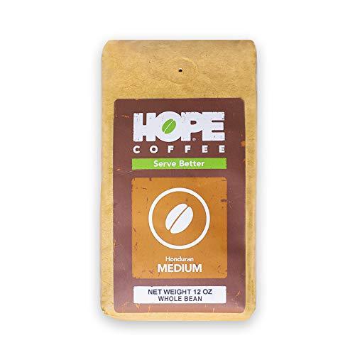HOPE Coffee Honduran Medium Whole Bean Coffee - 12 OZ