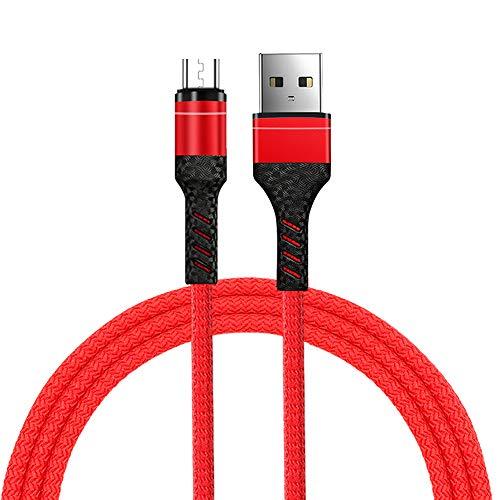 Chnrong Cable de datos trenzado, cable de datos de carga de tipo c de un solo cable 3A para iPhone 12Pro Max/12Pro/12/11/Pro/XsMax/X/8/7/Plus/6S/6/SE/5S, cable de datos de cable tejido de nylon