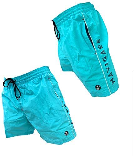 Navigare Boxer Mare Costume Uomo Pantaloncini da Bagno Swim Short, Taglie calibrate, Taglie comode,...